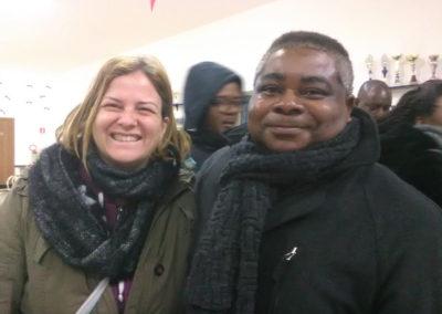 Maria Grazia Di Tullio e Don Denis Kibangu Malonda